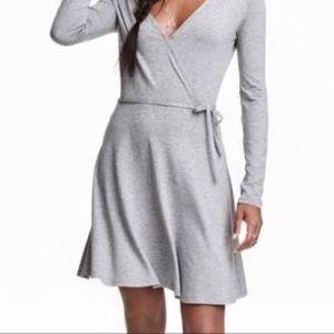 gray wrap dress